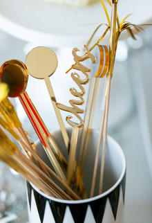 Gold cocktail stir sticks