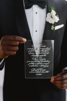 lucite wedding invitation