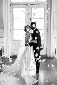 The ultimate black and white wedding with fashion-inspired details