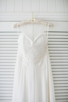 Modern beachy wedding dress