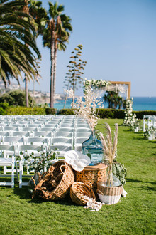 Modern beachy ceremony at the Montage Laguna Beach
