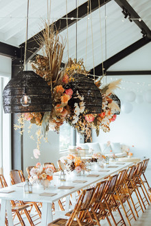 boho party floral install