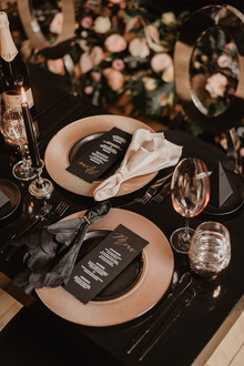 moody fall wedding inspiration with shades of coral and rust