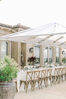 All white winter bridal shower for a destination wedding in Mexico
