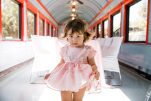 Vintage French travel-themed 2nd birthday party at Travel Town in Griffith Park