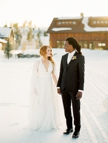 Luxe winter Rocky Mountain ranch wedding
