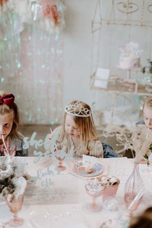 Boho mermaid girl's birthday party with all the sparkles