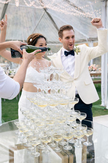 Wedding champagne tower