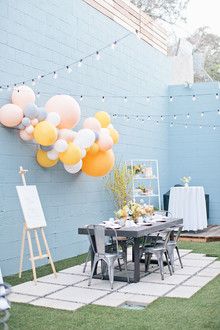Spring backyard gender neutral baby shower