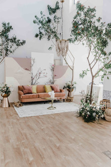 Indoor wedding decor