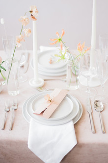 The blushiest bridal editorial and tablescape for spring