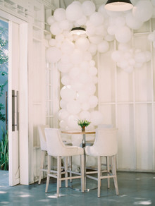 hot air balloon dessert table for an amazing 1st birthday party