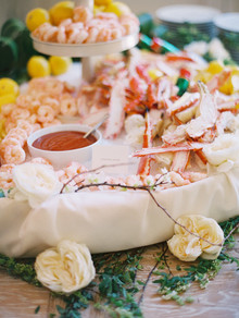 seafood catering display