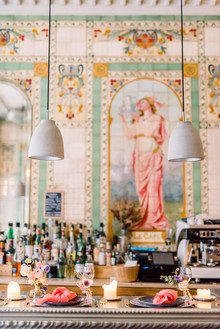 How to elope in Paris in the spring, at the most beautiful Art Nouveau cafe