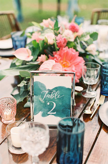 tropical wedding tablescape