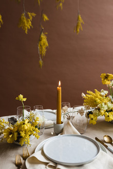Modern mauve and yellow wedding palette and bridal inspo