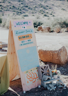 hand-painted wedding signs