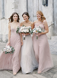 Blush bridesmaid dresses
