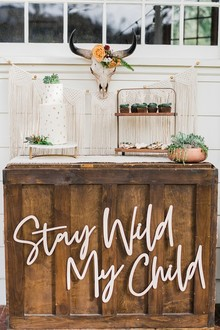 Boho Western boy's baby shower