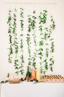 Botanical themed girl's baby shower
