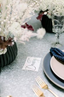 Game of Thrones wedding vibes in this darkly elegant dinner party