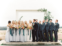 Grey bridesmaid dresses at the Prospect House in Austin Texas