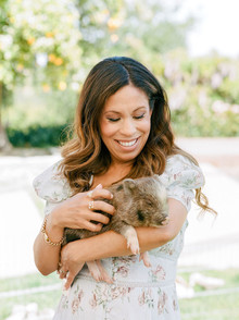 High tea backyard baby shower with baby animals