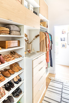 His & Hers master closet makeover with California Closets
