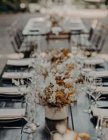 Dried flower centerpieces