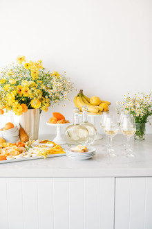 Yellow bridal shower ideas