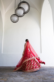 Colorful luxe Indian wedding at Bacara in Santa Barbara