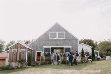 Summer barn wedding in Maine