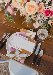 Colorful place setting idea