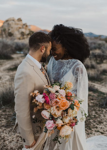 70s inspired Joshua Tree elopement