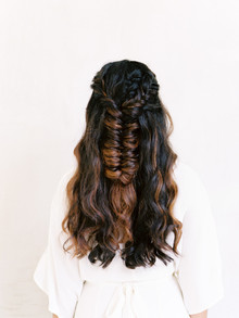 Fishtail braid for bride