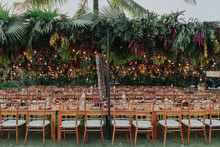 Tropical Bali wedding with floral reception