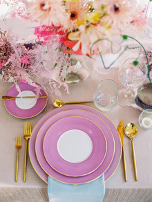 Pastel place setting