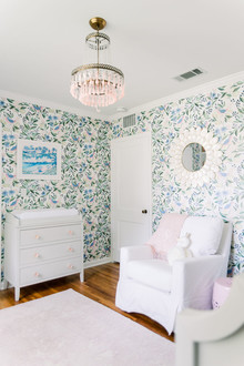 Floral nursery wallpaper