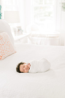 Bright white newborn photography