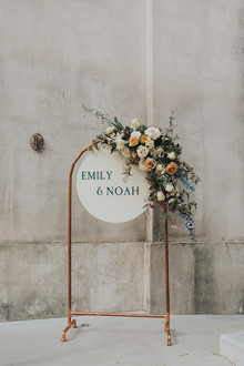 Spring wedding sign