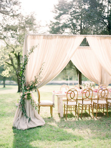 Elegant wedding tent