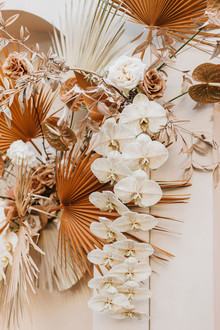 Palm leaf wedding backdrop
