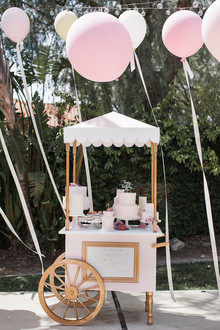 Pink floral French first birthday party