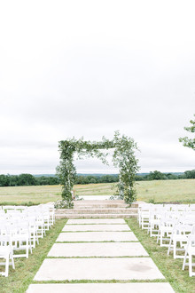 Greenery on chuppah