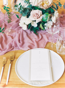 Dusty rose wedding