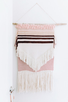 Pink weaving wall hanging