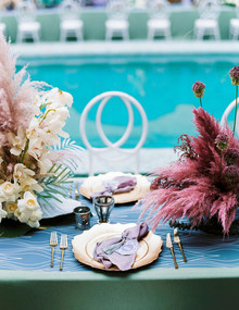 Dyed floral centerpieces
