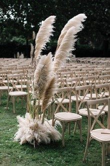 Pampas grass wedding decor