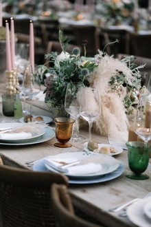 Pampas grass weddding decor