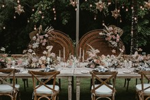 Bohemian wedding tablescape